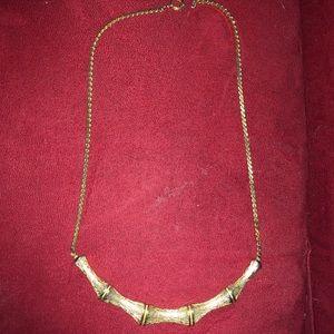 Vintage bamboo tropical tiki aloha necklace